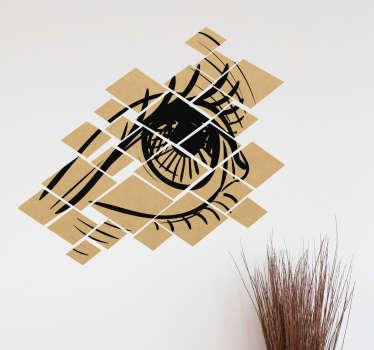 Autocolante decorativo olho fragmentado