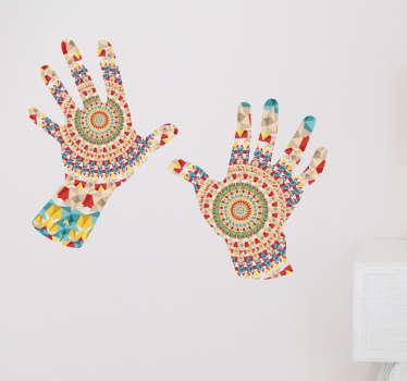 Hænder mandala stickers