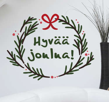Come check out our Finnish Christmas wall sticker that has gorgeous colors on it. We have discounts available on the website.