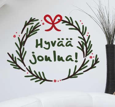 Koristetarra Hyvää Joulua