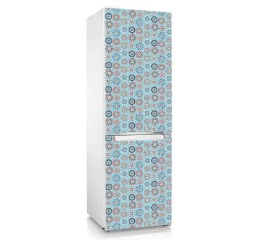 Kühlschrankaufkleber buntes Muster