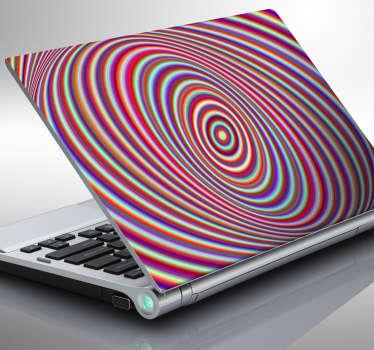 Cover adesiva a spirale caleidoscopica per pc