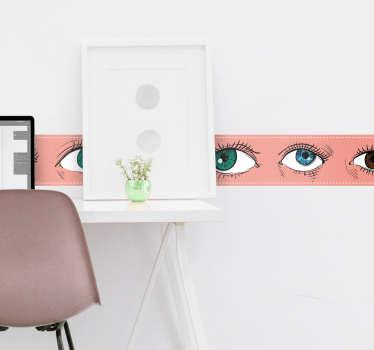 Adesivo murale camera da letto pellicola occhi
