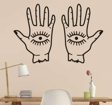 Muursticker ogen en handen