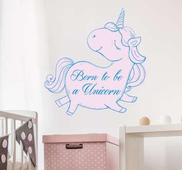 Unicorn klistermærke