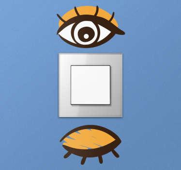 Øjne stikkontakt wallsticker