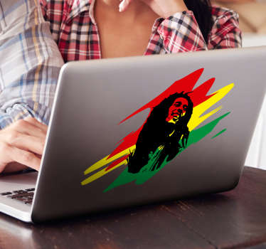 Autocolante para PC Bob Marley