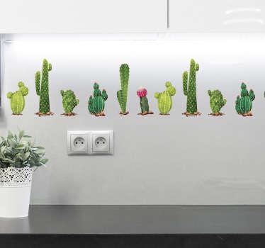 Behangrand muursticker cactussen