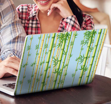 Original laptop sticker of bamboo branches that will give your laptop an oriental and unique look. Give your laptop a natural touch with a bamboo laptop skin.