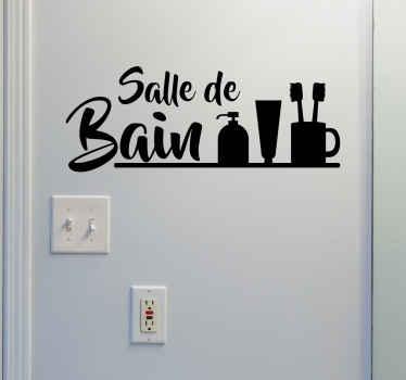 Décorez l'intérieur de votre salle de bain ou sa porte avec ce sticker. Il annonce en toute simplicité la pièce dans laquelle vous vous trouvez.