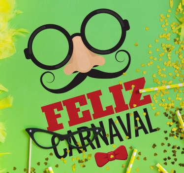 Vinilos carnaval, pensados para decorar el escaparate de tu tienda y promocionar esta fiesta popular de disfraces y diversión.