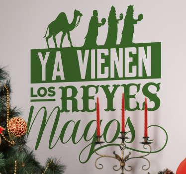 Vinilo ya vienen los Reyes Magos