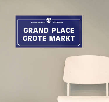 Sticker emplacement grand place