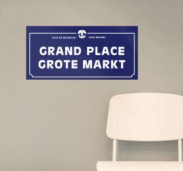 Decoreer uw huis met een straatnaambordje van een bekende straat in Brussel. Een gave muursticker voor hen zowel binnen als buiten Brussel.