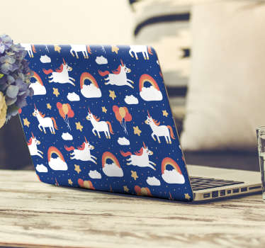Laptop sticker with animals is an original and charming laptop skin that will appeal to all fans of unicorns and fairy-tale decorations. High quality!