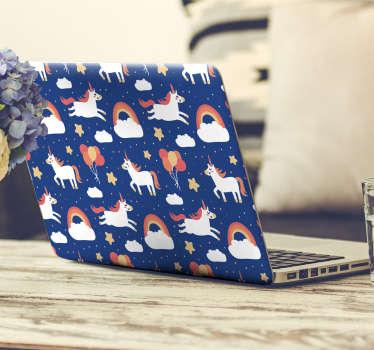 Unicorn laptop klistermærke