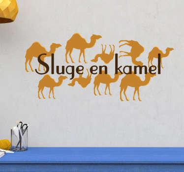 Sluge en kamel klistermærke