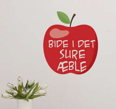 Bide i det sure æble klistermærke