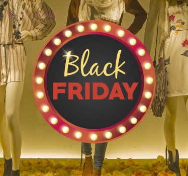 Raamsticker Black Friday rond