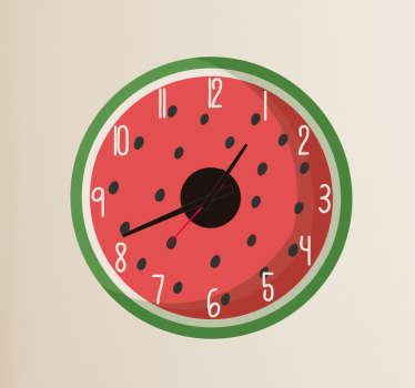 Autocolante decorativo de relógio de melancia