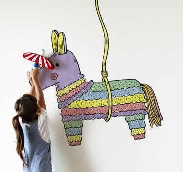 Vinilo decorativo piñata mexicana