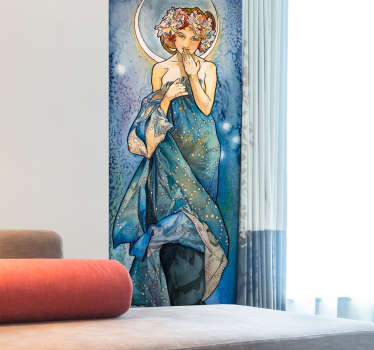 Vinilo pintura Alfons Mucha