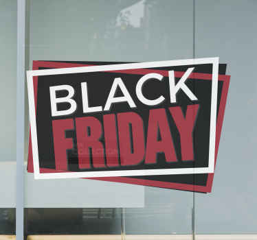Be creative and announce your Black Friday discounts with this great shop window decal with a tag's shape. Available in different sizes!