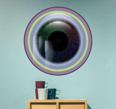Klistermærke farvet øje