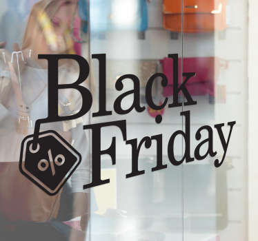 Simply but beautiful shop front window stickers saying Black Friday, a great way to announce your discounts in one of the busiest days of the year.