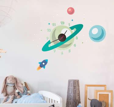 Aufkleber Uhr Planeten