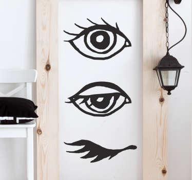芸術的な外観で瞬きする一連のビニールステッカーを描くことは、壁に神秘的なタッチを与えるのに理想的です。