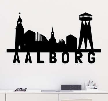 Silhuet Aalborg klistermærke