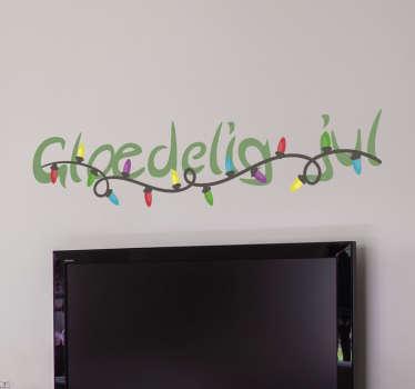 Glædelig jul klistermærke