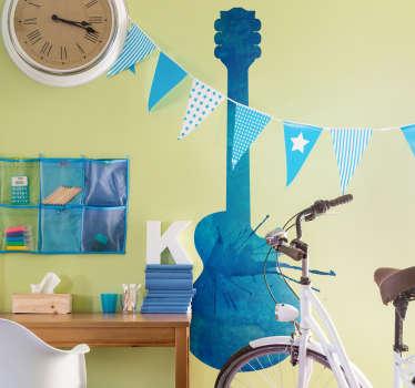 Adesivo decorativo chitarra splatter