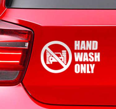 Autosticker hand wash only