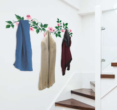 Buy our original flower coat hanger decal to decorate your coat space. It size is customisable to fit any dimension needed.