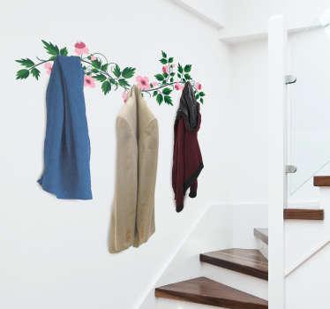 Vásárolja meg eredeti virágkötő fogas matricánkat, hogy díszítse kabátterét. A mérete testreszabható, hogy illeszkedjen a szükséges dimenziókhoz.