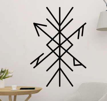 An original line wall decal with the deign of a protection rune. An amazing decoration for any flat surface and it application is easy.