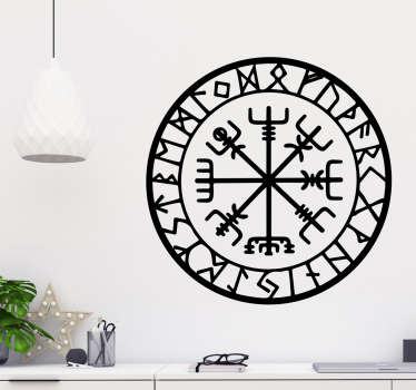 A viking compass sticker to show how fascinating you find the ancient culture of the vikings. Easy to apply and doesn't leave any residue.