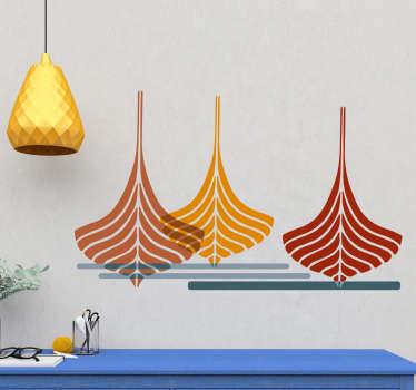 Vinilo decorativo barcos estilo minimalista