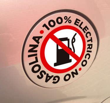 Pegatinas para coches eléctricos en los que remarcarás que tu vehículo no usa combustible fósil contaminante.