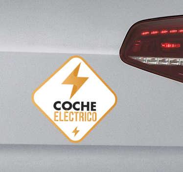 Adhesivos para coches eléctricos en los que podrás hacer gala de tu conciencia ecológica e indicar que tu vehículo no usa combustible fósil.