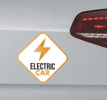 Autocollant signalétique electric car