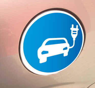 Sticker indicatie electrische auto