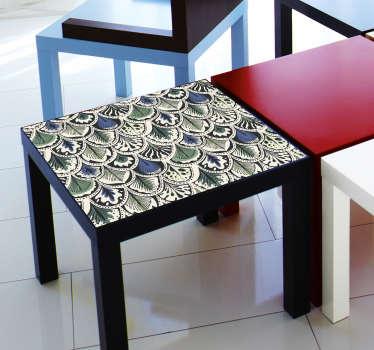 Sticker pour meuble plumes