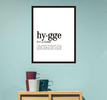 Naklejka ścienna definicja Hygge