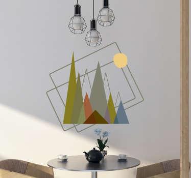 Vinil decorativo montanhas estilo minimalista