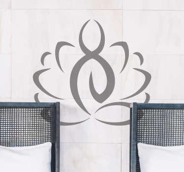 Autocolante parede com simbolo de Yoga