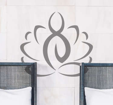 adesivo parete icona yoga