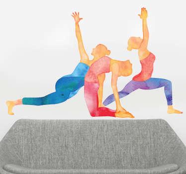 Adesivo sport posizioni yoga
